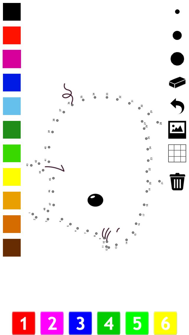 Malen nach Zahlen Malbuch, Lernspiel und Zahlenspiel für Kinder: Verbinde die Punkte, Spiele und Übungen: Tiere, Schiff, Flugzeug, Spielzeug malen, ausmalen und zählen zu lernenScreenshot von 5