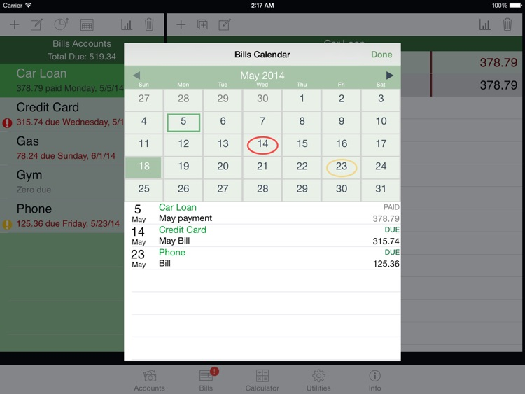 iCheckBalance for iPad: Checkbook & Bills Tracker screenshot-4
