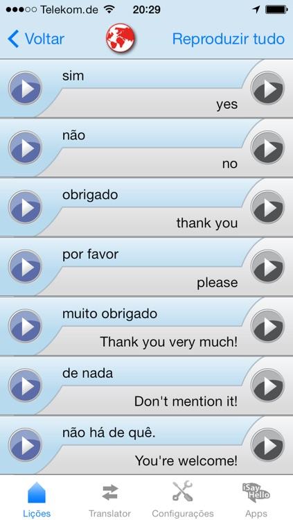 iSayHello Portuguese (Brazil) - English