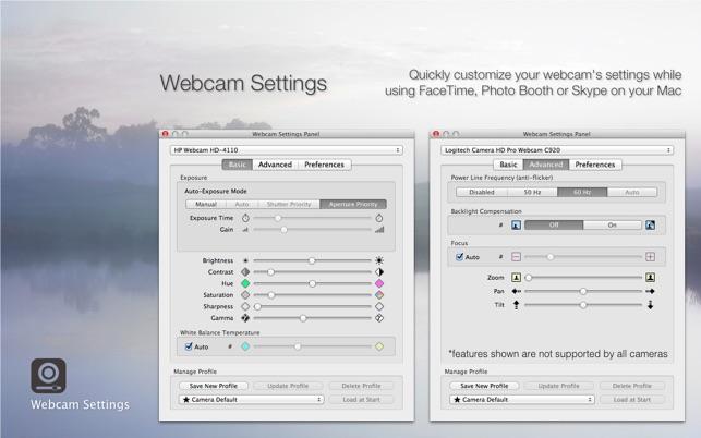 webカメラ設定 webcam settings をmac app storeで