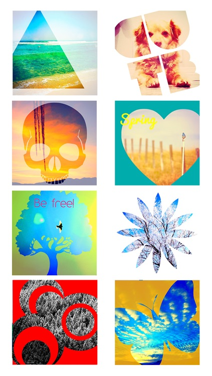 Insta Shapes Pro - Snap pics and shape photos with groovy patterns, ig symbols & fab deco shapes! screenshot-4