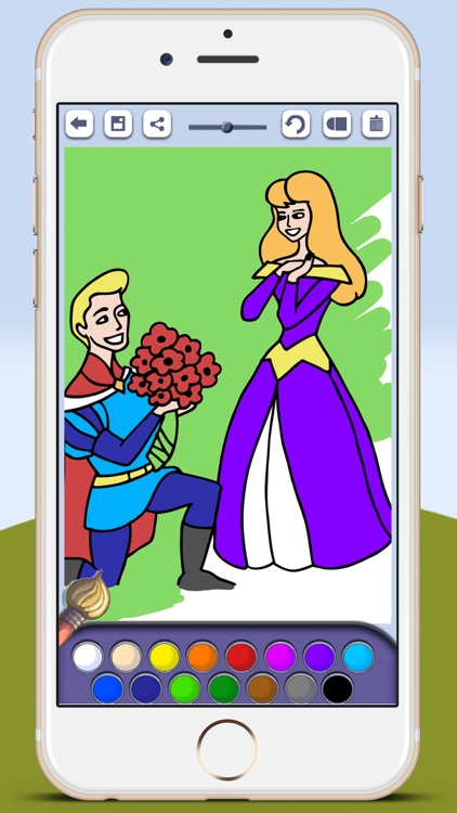 Paint princesses game for girls to color beautiful ballgowns with the finger screenshot-3