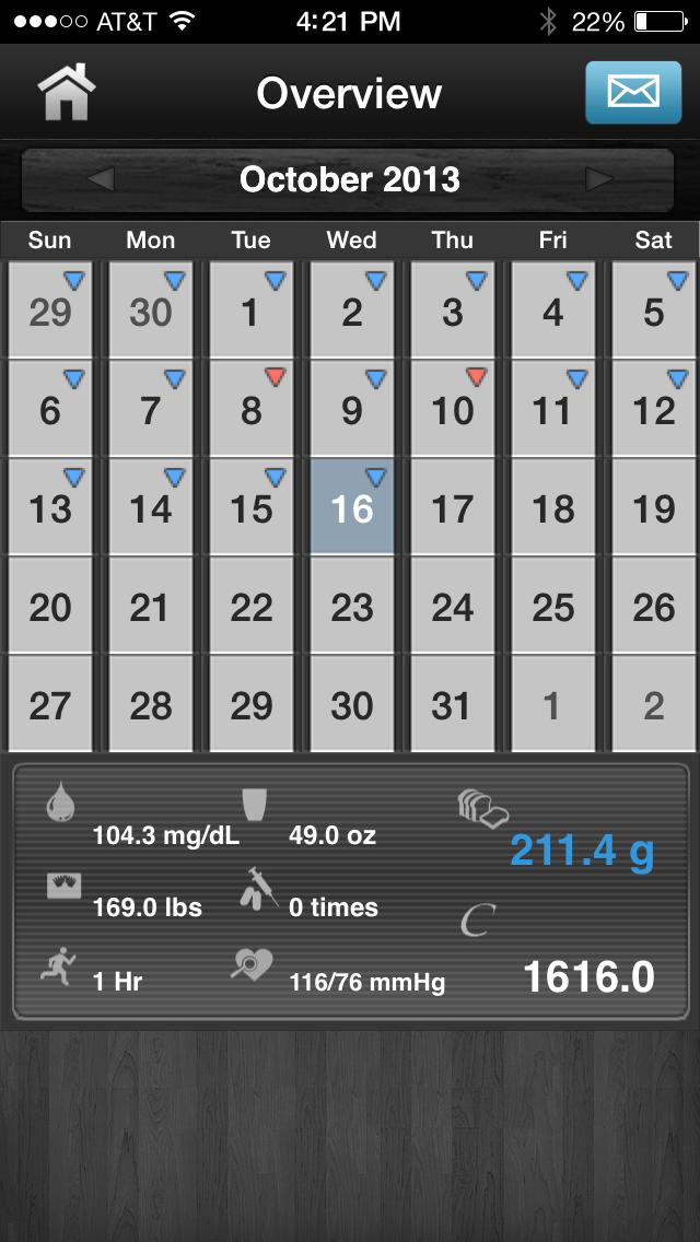 Diabetes App Lite - blood sugar control, glucose tracker and carb counterScreenshot of 1