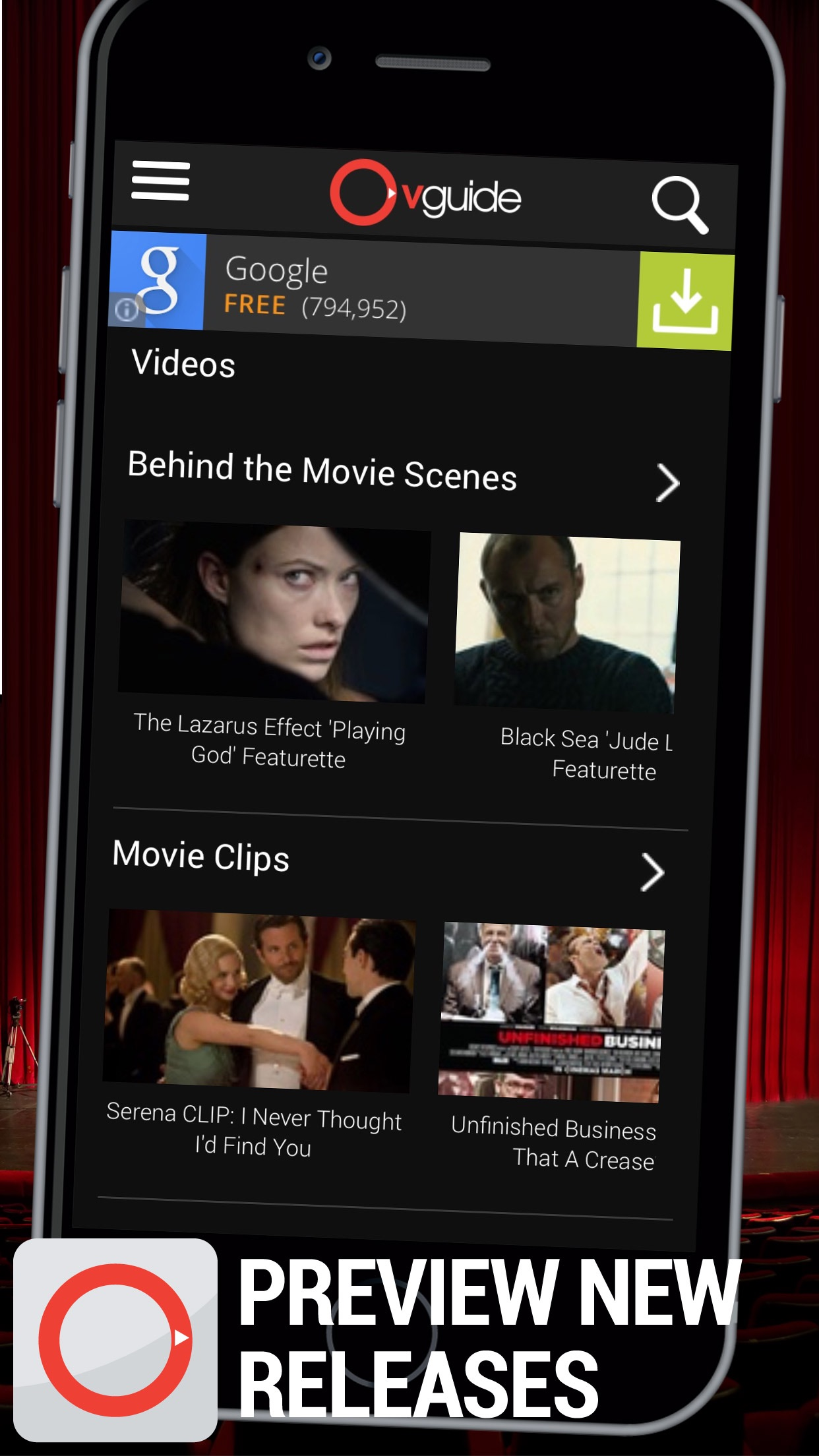 Watch Free Movies & TV - OVGuide Screenshot