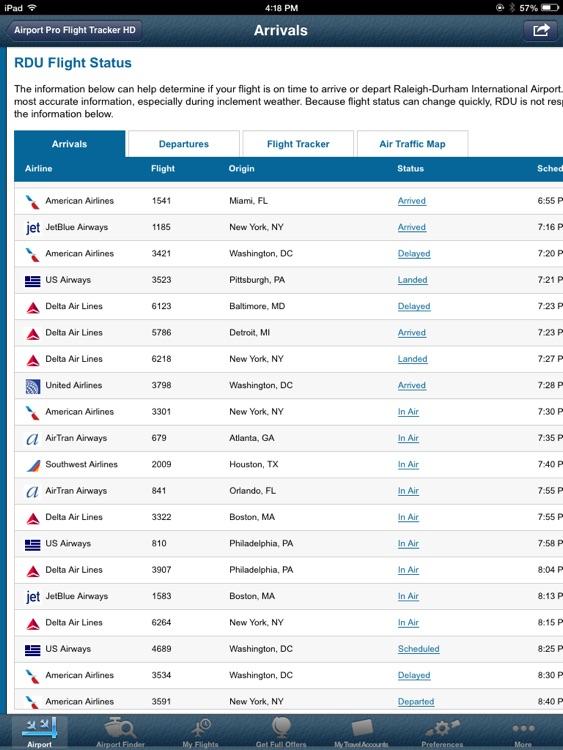 Raleigh Airport Pro (RDU) + Flight Tracker HD screenshot-3