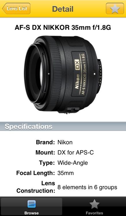 Nikon Lens Buddy - Lenses for DSLR Cameras screenshot-3