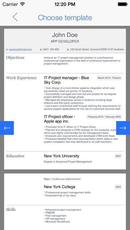 My First Resume - For first-time job seekers screenshot-3
