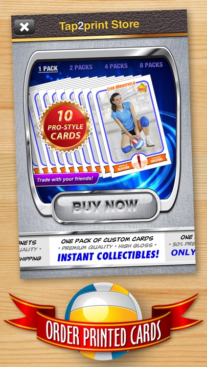Volleyball Card Maker - Make Your Own Custom Volleyball Cards with Starr Cards screenshot-4