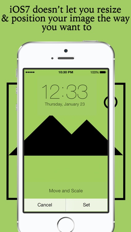 Fix and set  wallpaper - rotate, resize and position wallpaper the way you want and set as wallpaper  for Home Screen and Lockscreen