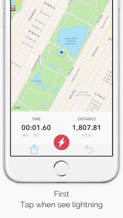 Screenshot for Storm Distance - Thunder & lightning locator in United States App Store