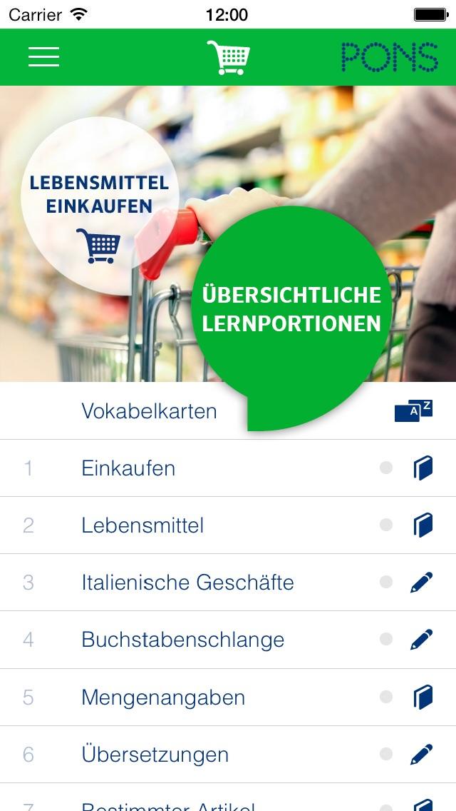 Screenshot for Italienisch lernen - PONS Sprachkurs für Anfänger in Germany App Store