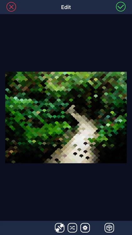 Intarsia - Mosaic photo filter