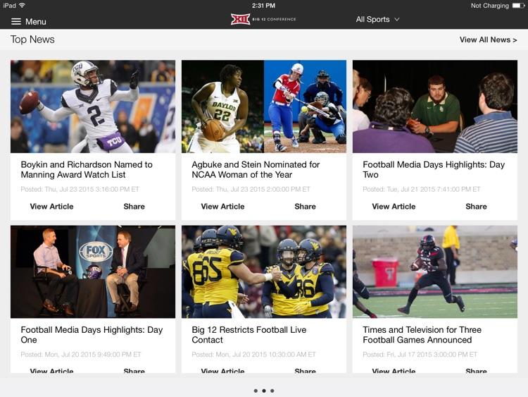 Big 12 Sports for iPad 2015