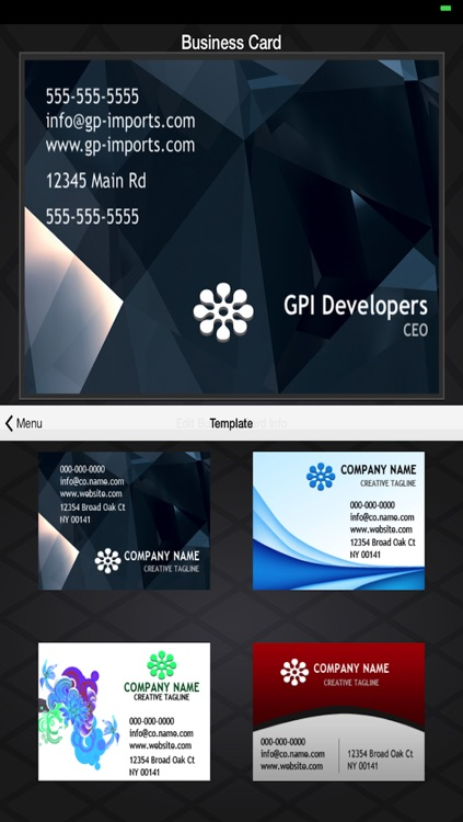 Business Card Builder