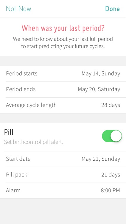 Period Tracker with Mood, Fertility & Birth Control Pill Diary with Reminder screenshot-4