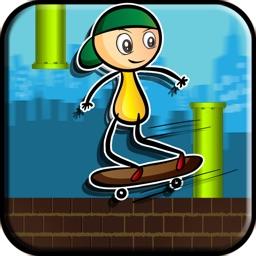 Touch Stickman Skateboard Jump: Pure Skater Skills
