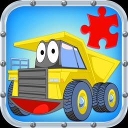Trucks JigSaw Puzzles - Animated Fun Puzzles for Kids with Truck and Tractor Cartoons!