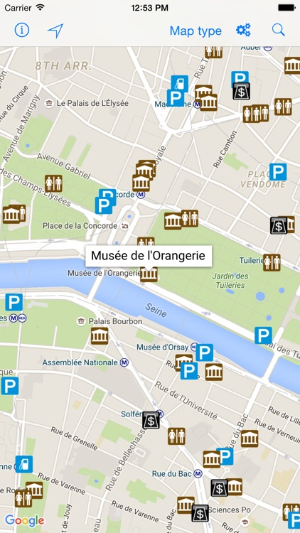 Leisuremap France, Camping, Golf, Swimming, Car parks, and more