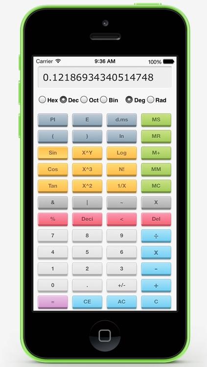 Color Scientific Calculator Pro Free - 3D One Screen Scientific Calculator