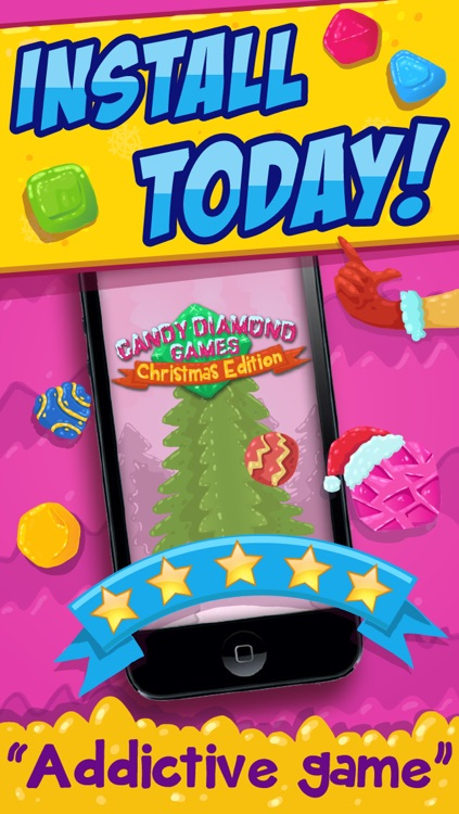 Candy Diamond Games Christmas - Cool Candies and Jewels Swapping Match 3 Puzzle Game For Kids HD FREE screenshot-4
