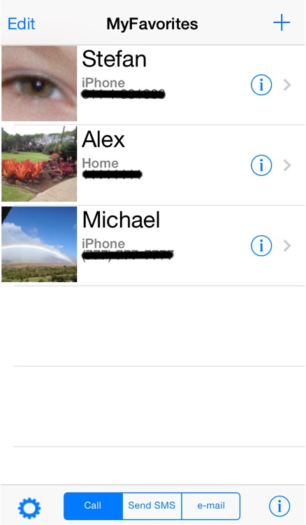 My Favorites Contacts