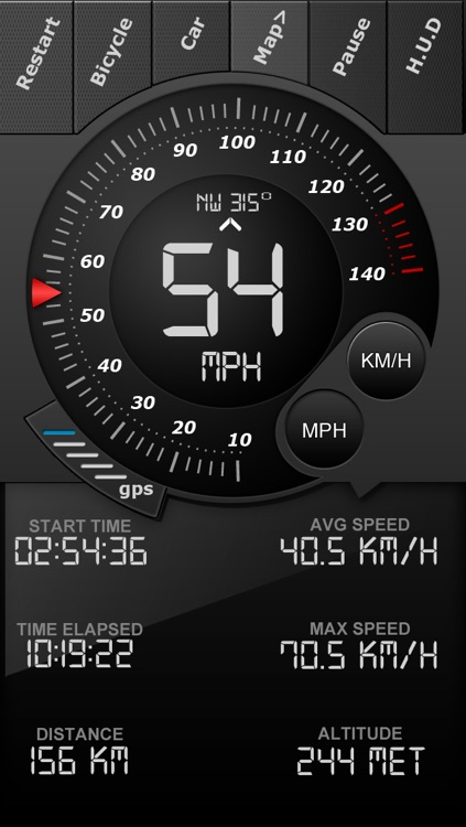 Speedometer GPS Tracker+ HUD and Track information screenshot-1