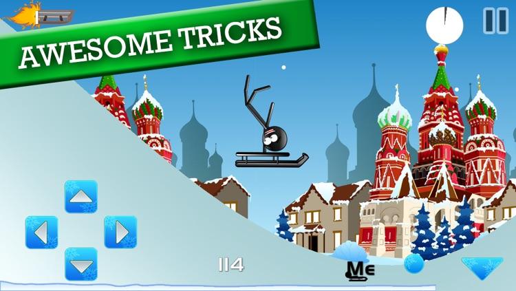Stickman Luge - Winter Games! screenshot-3