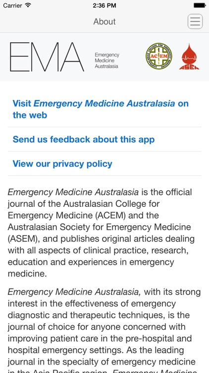 Emergency Medicine Australasia screenshot-3