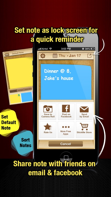 StickMe Notes - Beautiful Checklist Reminder - ToDo Task Lists & Personal Sticky Notepad Application With Alarm screenshot-4