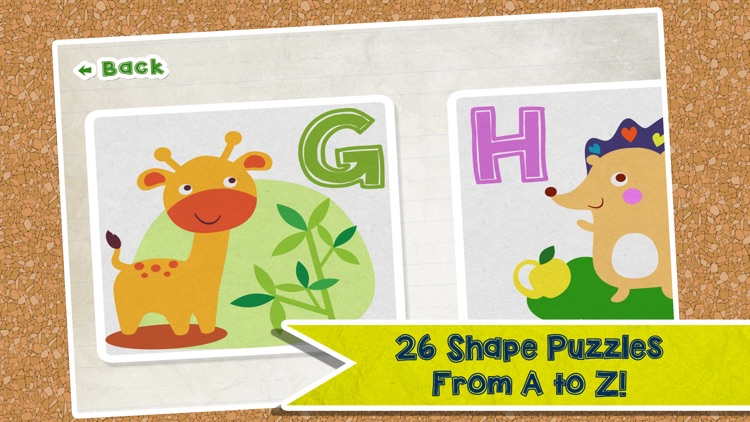 Alphabet Animal Puzzle - Fine Motor Skills Puzzles For Kids