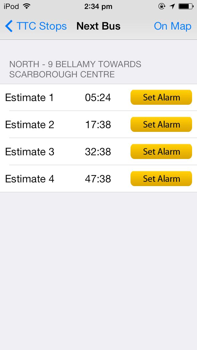Next Streetcar TTC screenshot three