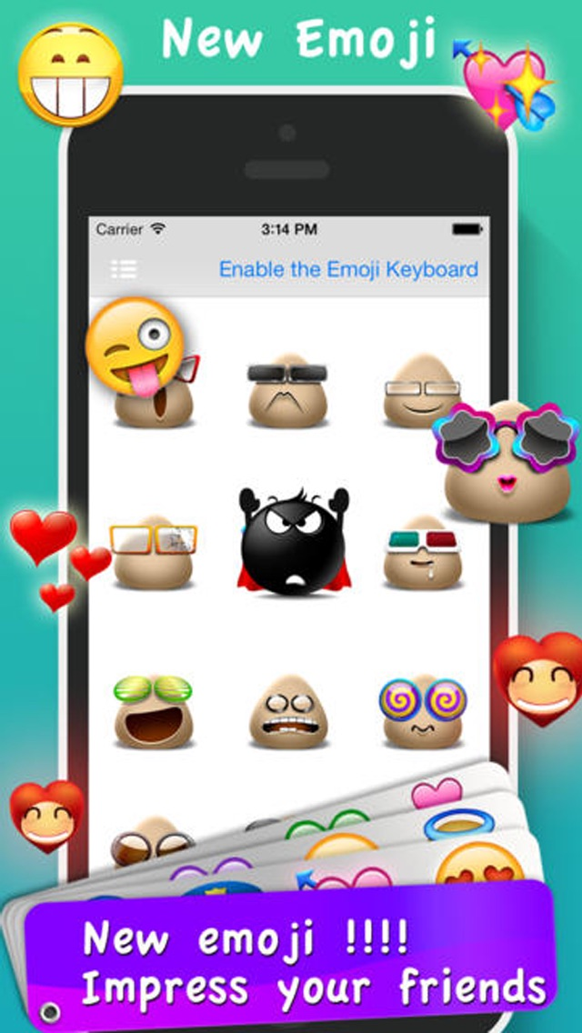 Screenshot for Emoji Emoticons & Animated 3D Smileys PRO - SMS,MMS Faces Stickers for WhatsApp in Singapore App Store