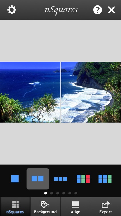 nSquares - Post photos in Square, Banner or Photo Grid Format on Instagram