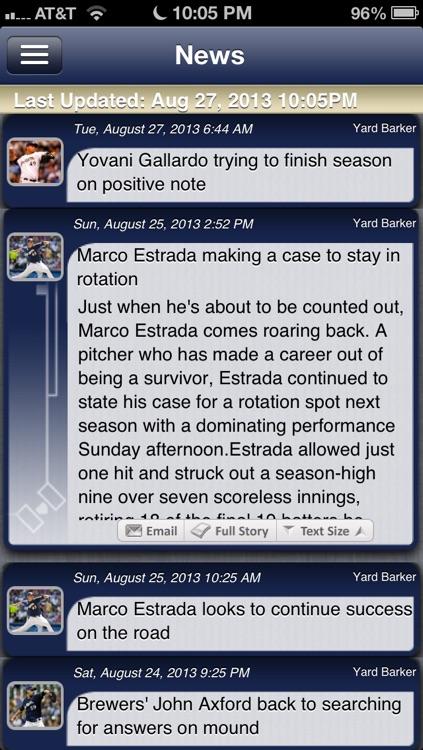 Milwaukee Baseball Live screenshot-3
