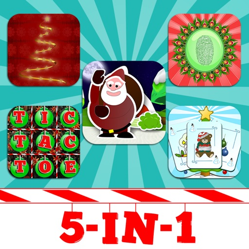 5-in-1 Christmas App Bundle - Hangman, Tic Tac Toe, Farting Santa, Fingerprint Scanner