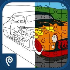 Activities of Color It Puzzle It: Hot Rods Lite