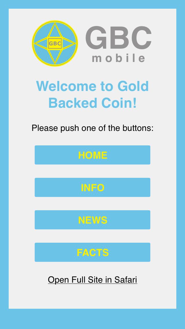 点击获取GBC – Gold Backed Coin