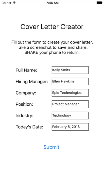 Cover Letter Creator screenshot-2