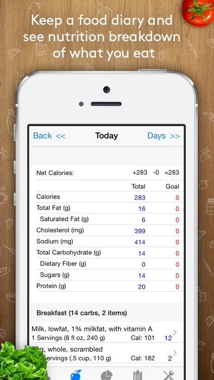 Track3 - Diabetes Planner, Diabetes Glucose Logbook, Diabetes Tracker, Carb Counter(SI version) screenshot-4
