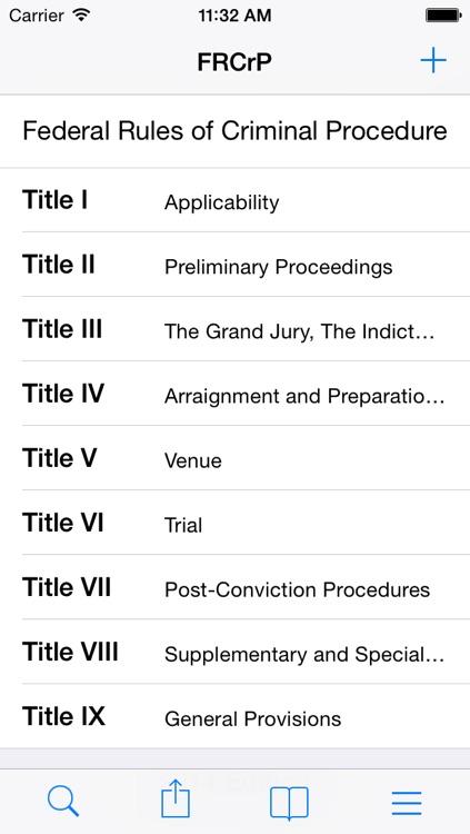 Federal Rules of Criminal Procedure (FRCrP)