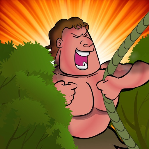 Jungle Man Swing : Rope And Fly Adventure icon