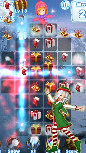 santa games and puzzles swipe yummy candy to make it collect jewels for christmas hd on the app store