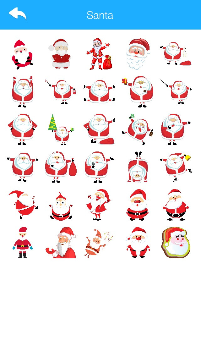 Winter Stickers & Emoji for WhatsApp and Chats Messengers Christmas Holiday Edition 2016 Screenshot