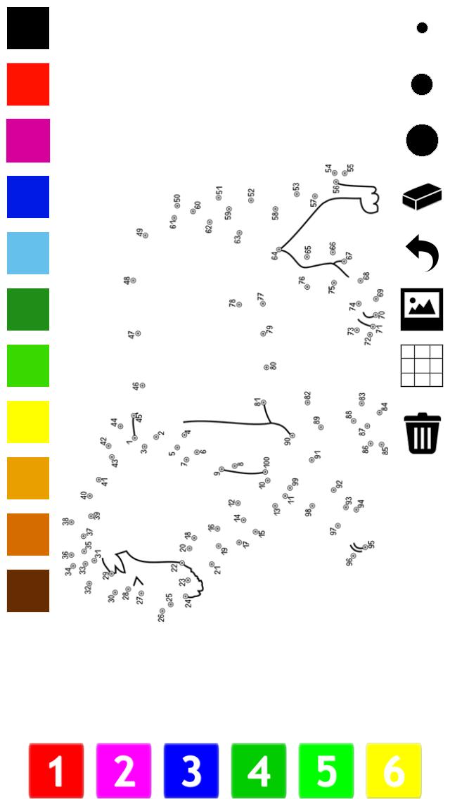 Malen nach Zahlen Malbuch, Lernspiel und Zahlenspiel für Kinder: Verbinde die Punkte, Spiele und Übungen: Tiere, Schiff, Flugzeug, Spielzeug malen, ausmalen und zählen zu lernenScreenshot von 3