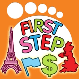 First Step Country : Fun and Learning General Knowledge Geography game for kids to discover about world Flags, Maps, Monuments and Currencies.