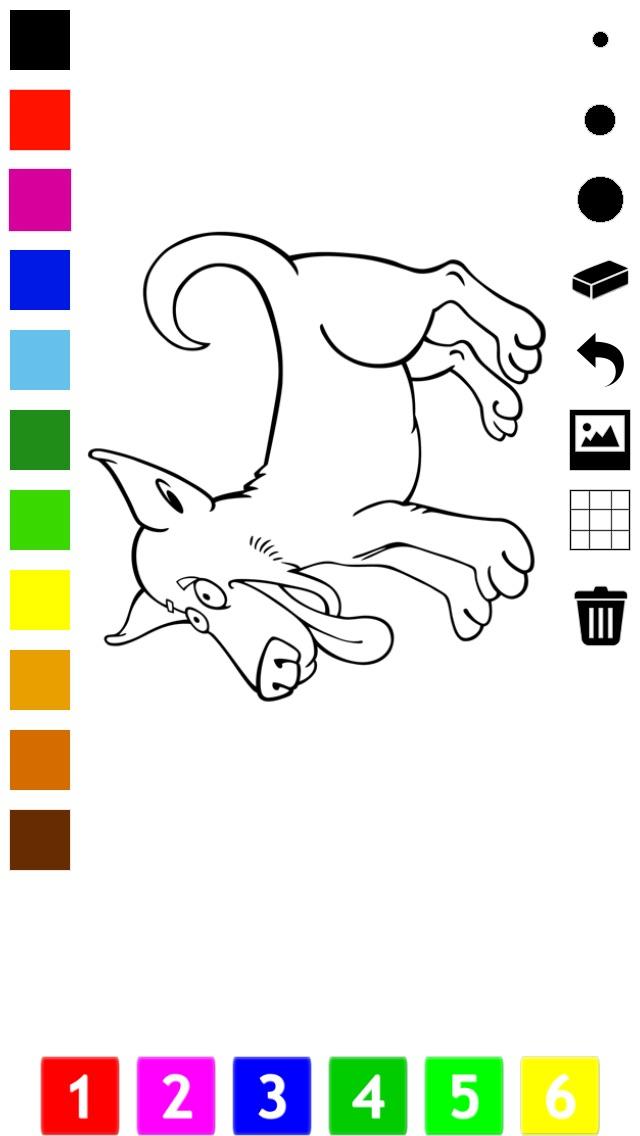 Libro para colorear perros para los niños: aprender a dibujar perro ...