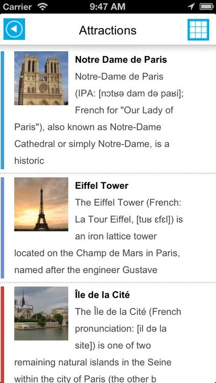 Paris offline map, guide & hotels screenshot-3
