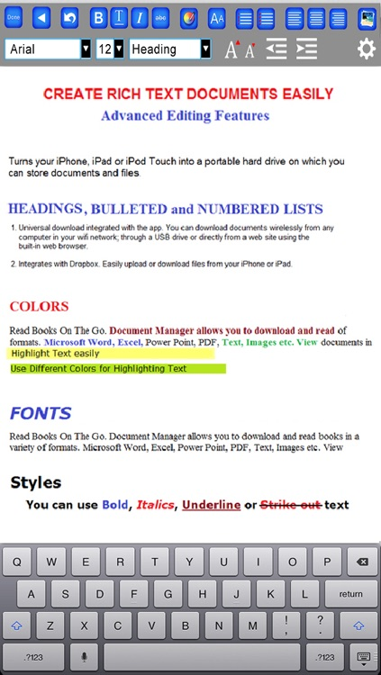 Document Editor - Word Processor and Reader for Microsoft Office screenshot-1