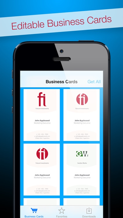 Business Cards for Adobe InDesign® - Editable Royalty-Free Templates