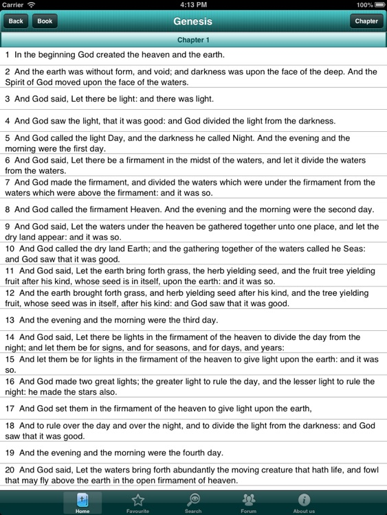 The bible offline for iPad screenshot-2